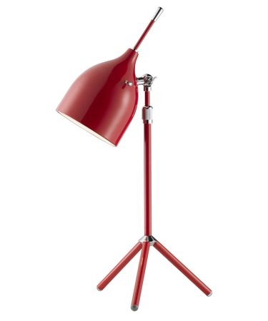 Shown in Chrome finish and Red Metal shade