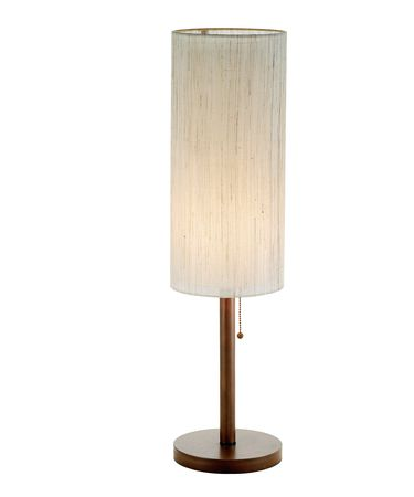 Shown in Walnut finish and White shade