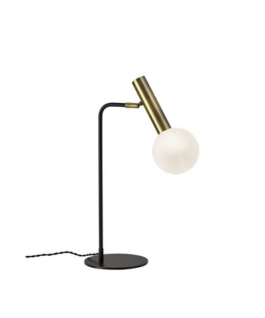 Shown in Black And Antique Brass finish and Frosted glass