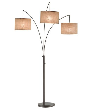 Shown in Antique Bronze finish and Beige shade