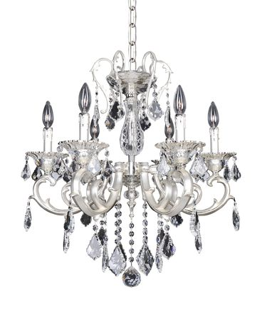 Shown in Two-Tone Silver finish and Firenze Clear crystal