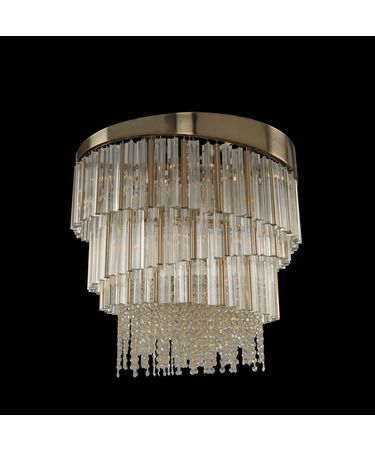 Shown in Brushed Champagne Gold finish and Firenze Clear crystal