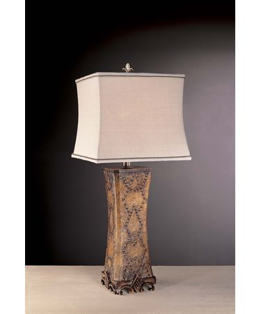Shown in Antique Fawn with Hobnail Bronze finish