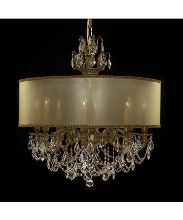 Shown in French Gold Glossy finish with Clear Precision Pendalogue crystal and Parisian Gold shade