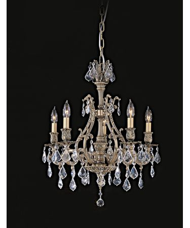 Shown in Antique Black Glossy finish with Clear Precision Pendalogue crystal
