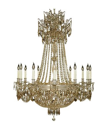 Shown in Antiwue White Glossy finish with Strass Golden Teak crystal