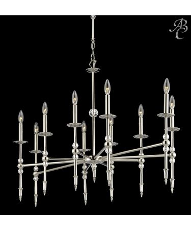 Shown in Pewter finish and 30% Lead Clear Cut Crystal accent