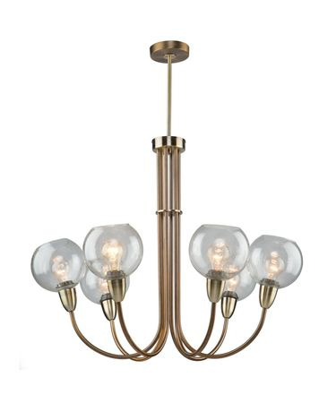 Shown in Burnished Bronze finish and Clear Seeded glass