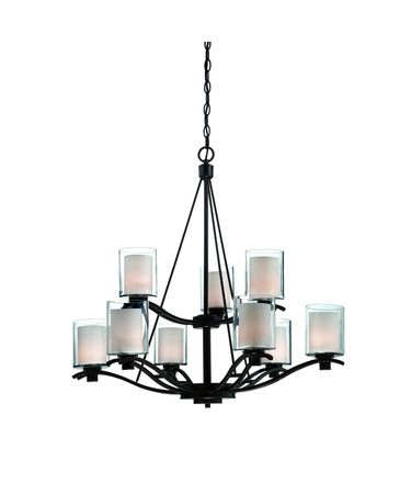 Shown in Oil Rubbed Bronze finish and Frosted Amber glass