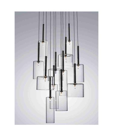 Shown in Silver finish and Clear glass