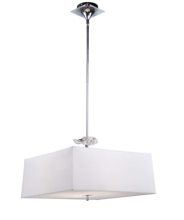 Shown in Chrome finish, White Diffuser glass and White shade