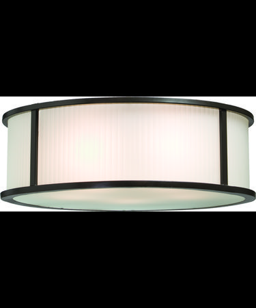 Shown in Matte Black finish, Acid Frosted Reeded glass and Amber Satin Hard Back shade