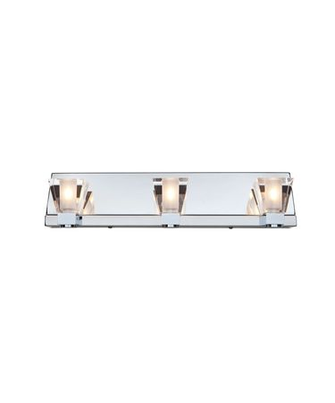 Shown in Chrome finish and Clear glass