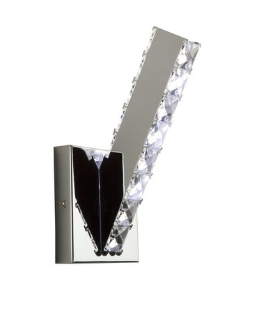 Shown in Polished Chrome finish and Polished Leaded crystal