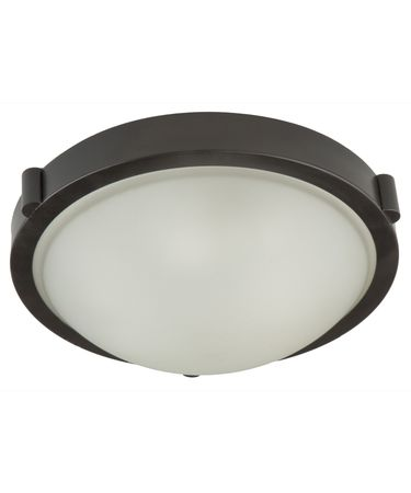 Shown in Oil Rubbed Bronze finish and White Frosted glass