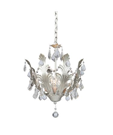 Shown in Silver finish and Pendalogues crystal