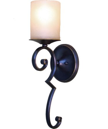 Shown in Dark Hand Oil Rubbed Bronze finish and Distressed Soft Amber glass