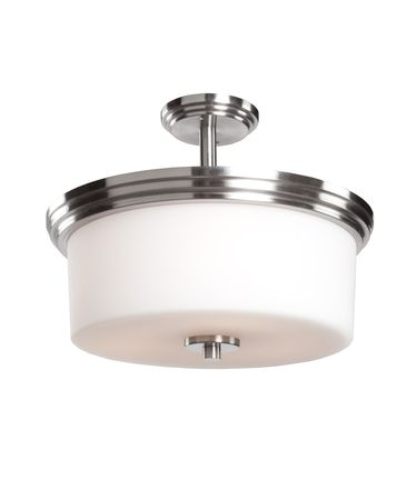 Shown in Polished Nickel finish and Opal White glass