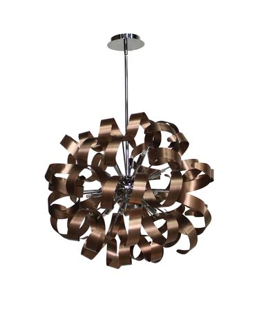 Shown in Brushed Copper - Chrome finish
