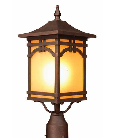 Shown in Oil Rubbed Bronze finish, Amber Seeded glass and White Organza shade