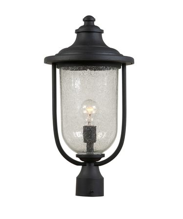 Shown in Black finish and Seeded glass