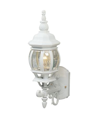 Shown in White finish, Clear glass and Crystal Bobeche accent