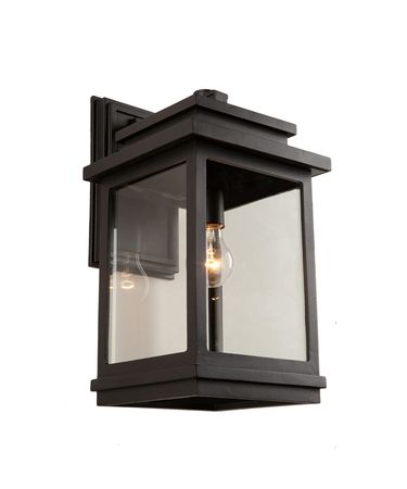 Shown in Oil Rubbed Bronze finish and Clear glass