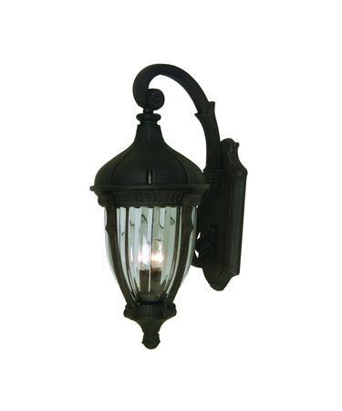 Shown in Oil Rubbed Bronze finish and Optic Clear glass