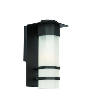 Shown in Black finish and Opal White glass