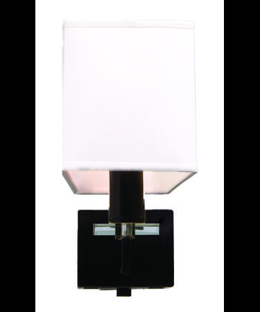 Shown in Black finish and Block Accents glass
