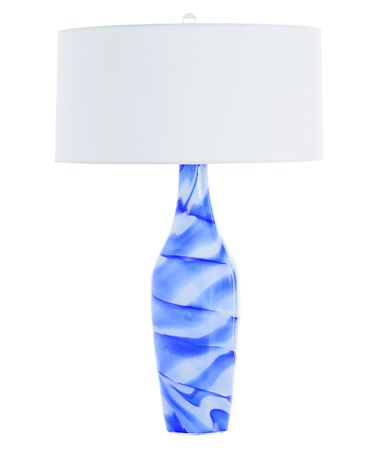 Shown in Blue-White finish and White glass