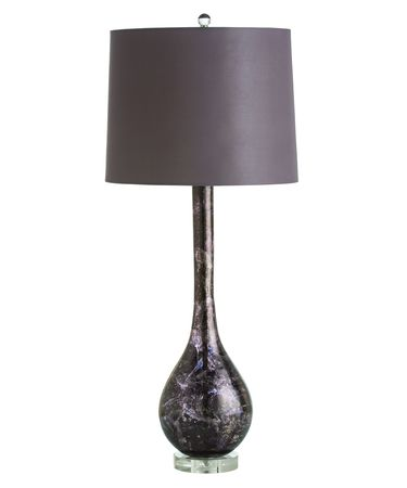 Shown in Silver Leaf Midnight finish, Purple glass and Purple shade