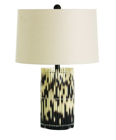 Shown in Ivory-Black finish and Light Beige shade