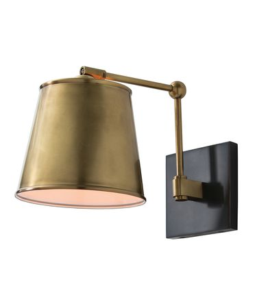 Shown in Antique Brass finish and Bronze accent