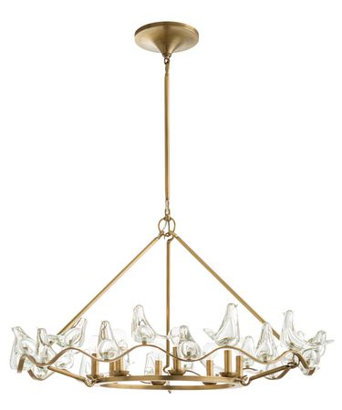 Shown in Antique Brass finish and Yellow glass