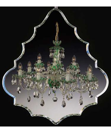 Shown In Polished Brass finish with Emerald-Green Swarovski Spectra crystal
