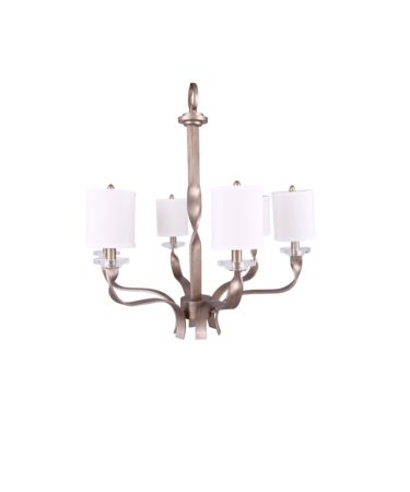Shown in Silver Leaf finish and White shade