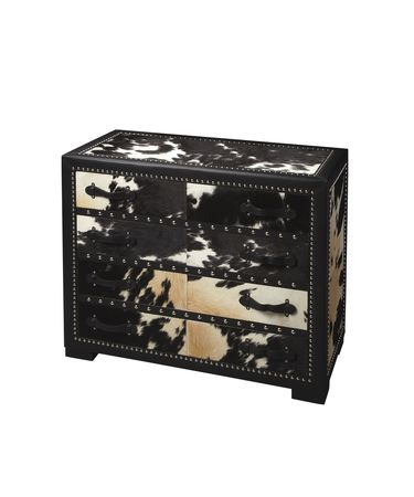 Shown in Genuine Cowhide, Black Leatherette finish
