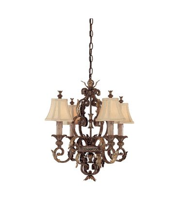 Shown in Dark Spice finish, Crystal Set Sold Separately crystal and Fabric shade