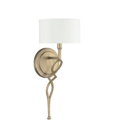 Shown in Brushed Gold finish and White shade
