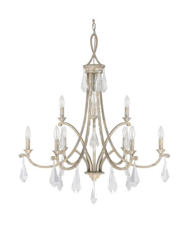 Shown in Silver Quartz finish, Clear crystal and No Shade shade