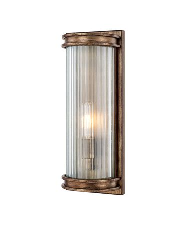 Shown in Rustic finish and Ribbed glass