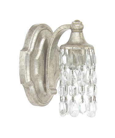 Shown in Antique Silver finish and Clear Crystal glass