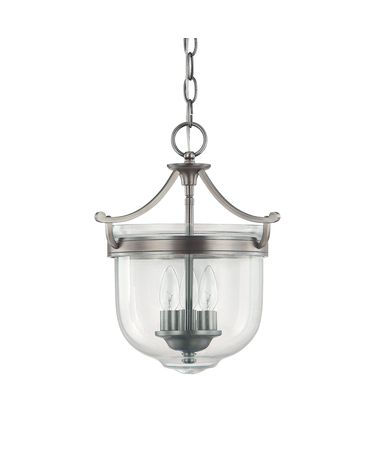 Shown in Antique Nickel finish and Clear glass