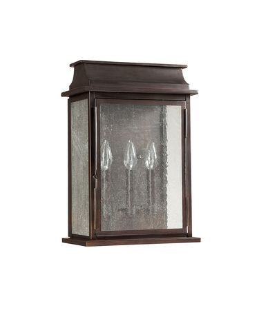 Shown in Old Bronze finish and Antique glass