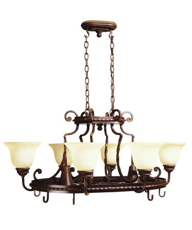 Shown in Aged Bronze finish and Antique Scavo glass