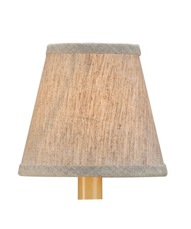 Shown in Natural finish and Linen shade