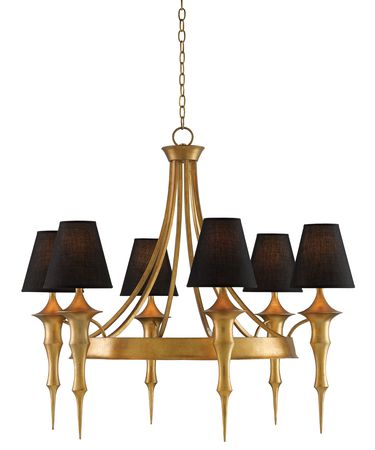 Shown in Dark Antique Gold Leaf finish