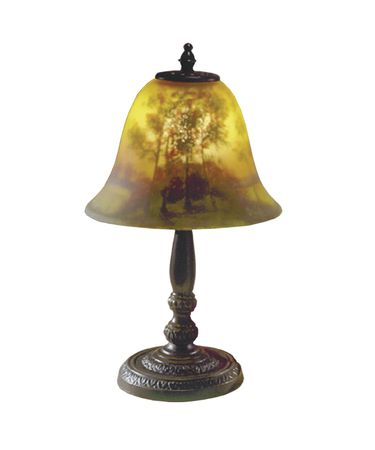 Shown in Antique Bronze finish and Glass shade