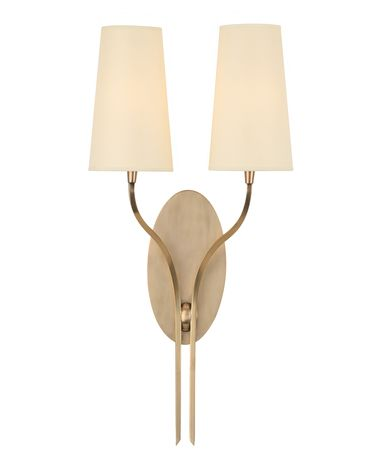 Shown in Aged Brass finish and Eco Paper shade